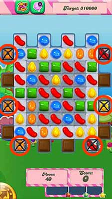 candy crush level 65 cheats