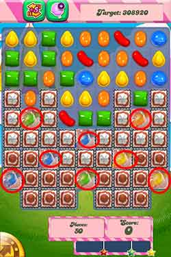 Candy Crush Level 290 Cheats and Tips