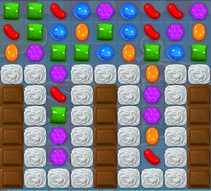 Level 136 Cheat #1: Clear the chocolate