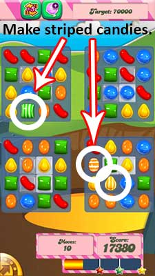candy crush level 33 striped candies