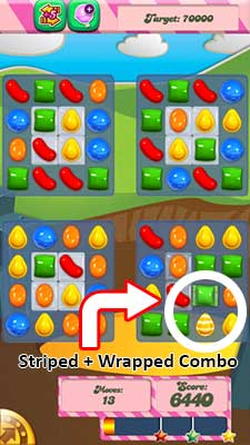 candy crush level 33 special combo