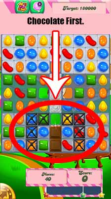 first in level 79 of candy crush it will take over your board