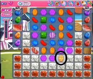 Level 241 Cheat #2:Use horizontal striped candy . Next >>