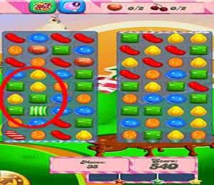 Level 66 Cheat #3: Make vertical striped candies and striped candy