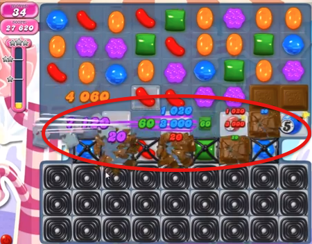candy crush level 109 how to get rid of bombs