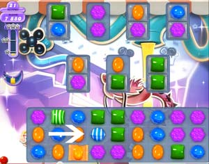 Level 31 Cheat #1: Create special candy combinations. Next >>