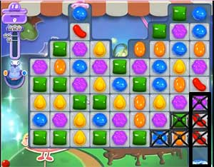 There is a teleporter at the bottom right corner of the board that is