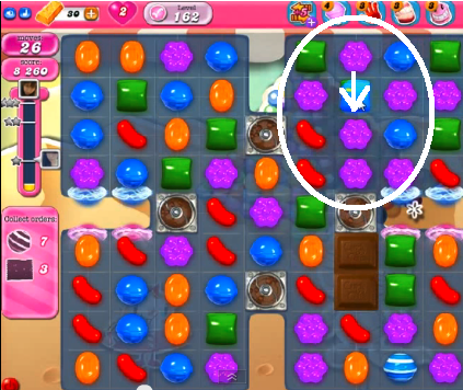 candy crush level 162