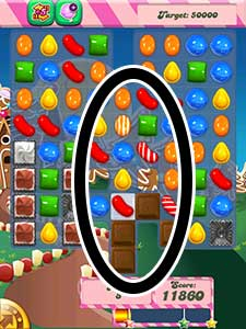 candy crush level 154