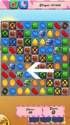Candy Crush Level 168 Cheats and Tips