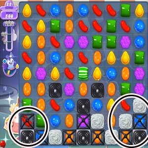 Clear blockers to free locked candy underneath by using stripped candy