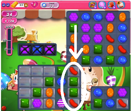 candy crush level 71